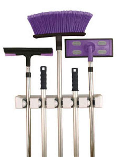 Magic Mop Hanging Holder Broom Rack Gantungan Sapu Pel Kemoceng five slot magic mop and broom holder in broom and mop holders