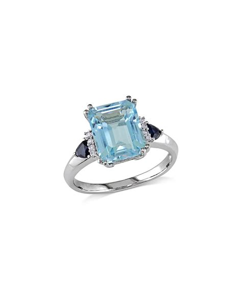 blue topaz emerald cut ring zulily
