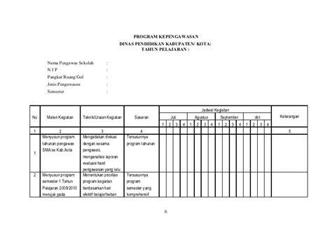 contoh format evaluasi diri sekolah contoh format program pengawas sekolah akhmadsudrajat co cc