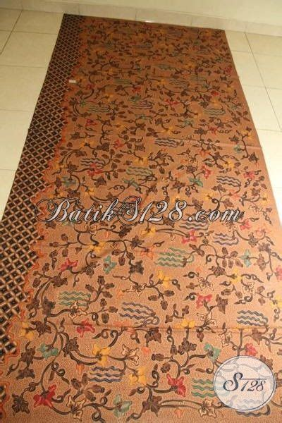 Kain Batik Sogan Jawa Premium 002 kain batik premium bahan busana mewah batik jawa tulis tangan asli buatan batik klasik