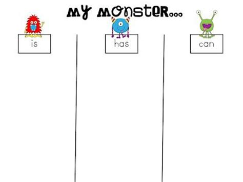 i need my monster writing activity educating and