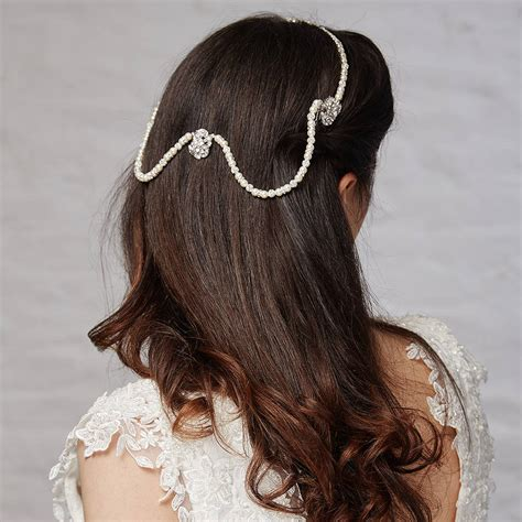 hair drapes kimmy hair drape with pin by azure jewellery