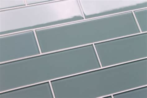 color sle of arctic 3x12 blue gray glass subway tile