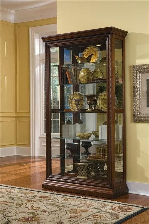 curio with sliding glass door pulaski furniture curios edwardian two way sliding door