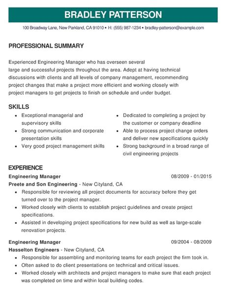 sensational recommended resume format 15 best cv exles guaranteed to get you hired