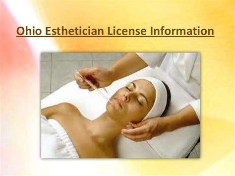 ohio esthetician license information