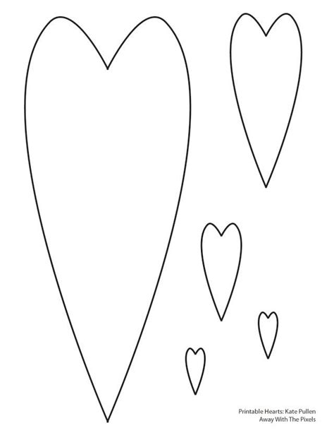 6 free printable heart templates heart template project