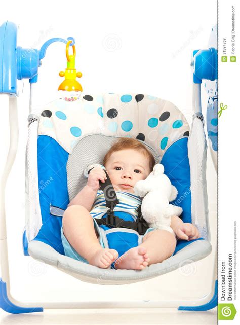 quiet baby swing quiet baby in a swing royalty free stock photos image
