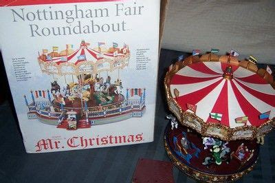 mr nottingham fair carousel with box and