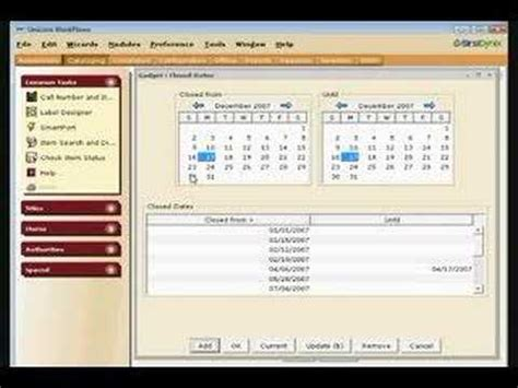 sirsi workflows sirsi snippet 2 setting closed dates