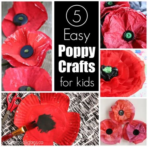 poppy crafts for 25 flower crafts and activities happy hooligans