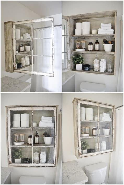 20 create storage on your 20 create storage on your bathroom wall home