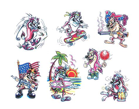 cartoon tattoo artist designs img3 jpg 171 171 classic design
