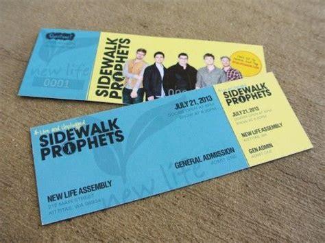 sidewalk prophets concert ticket design printing