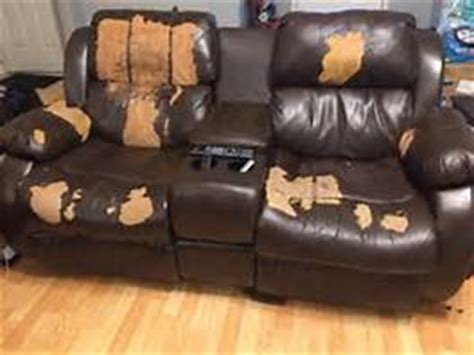 how to fix bonded leather sofa request a free leather repair estimate from creative