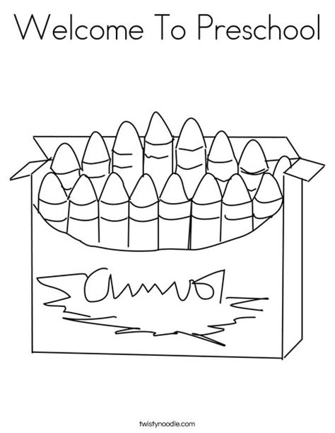 welcome coloring pages printable welcome to preschool coloring page twisty noodle