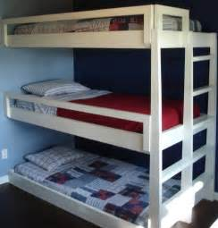 Blueprints For Triple Bunk Beds by The Triple Bunk Bed By The Superhandyman