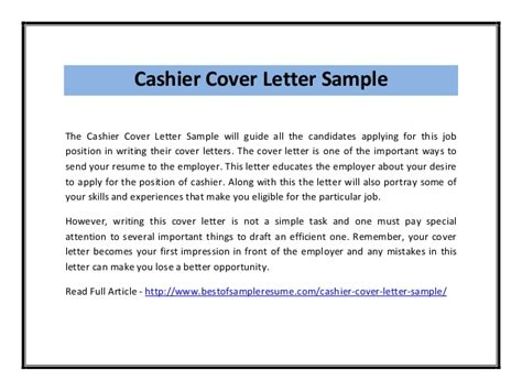 cover letter for cashier position with no experience cashier cover letter sle pdf