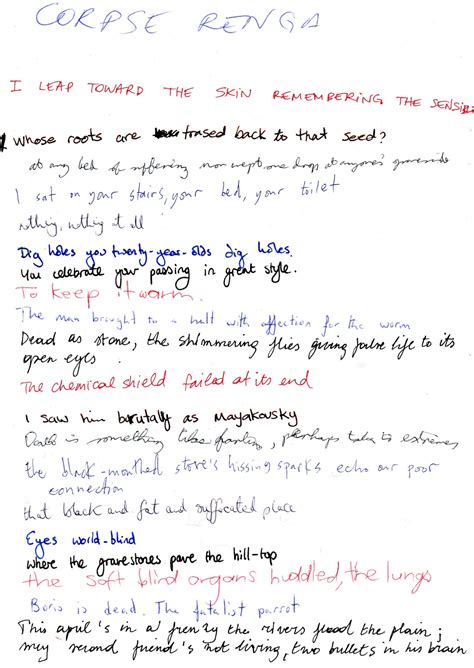 Patchwork Poem - patchwork renga workshop at poetry parnassus blutkitt