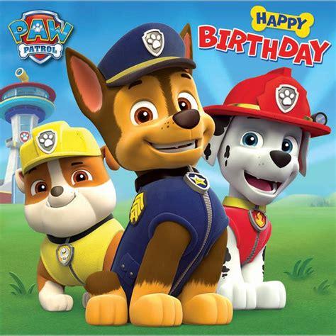 Free Paw Patrol Happy Birthday Card