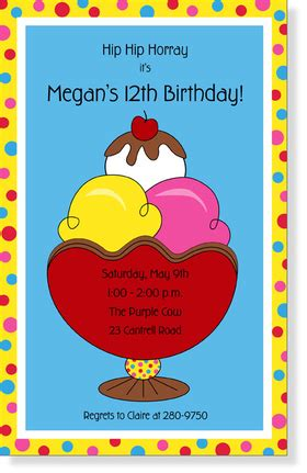 printable juvenile birthday cards invitations birthday children juvenile girls or boys scooped