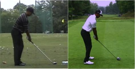 golf square to square swing tiger woods swing comparison analysis swing profile
