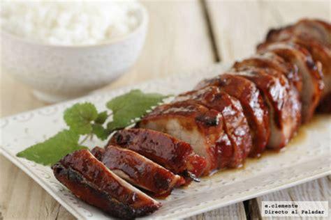 cocinar lomo de cerdo entero solomillo de cerdo laqueado a las cinco especias receta