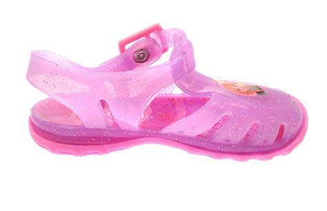 jellies shoes pink frozen elsa jelly shoes glitter sandals