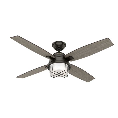 outdoor ceiling fans with lights and remote shop creek 52 in noble bronze downrod or
