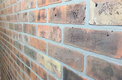 painted faux brick wall how to paint a faux brick wall gray house studio
