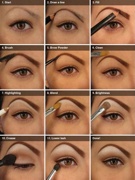 tutorial for eyeshadow natural looking eye makeup and brows beauty zone
