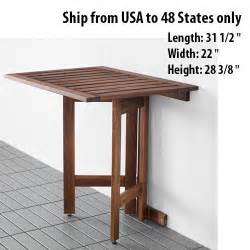 Wall Drop Leaf Table Folded Folding Desk Wall Mounted Drop Leaf Portable Outdoor Indoor Table Ikea Ebay
