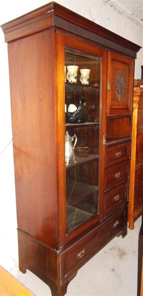 jugendstil vitrine nu 223 baum wohnzimmerschrank schrank vitrine um1900