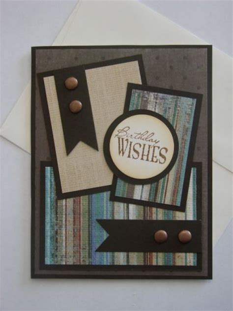 Masculine Handmade Cards - rustic birthday by hejanderson cards and paper crafts at