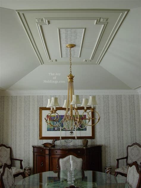 How To Decorate A Tray Ceiling after painting and installing moldings on dining room tray ceiling the of moldings