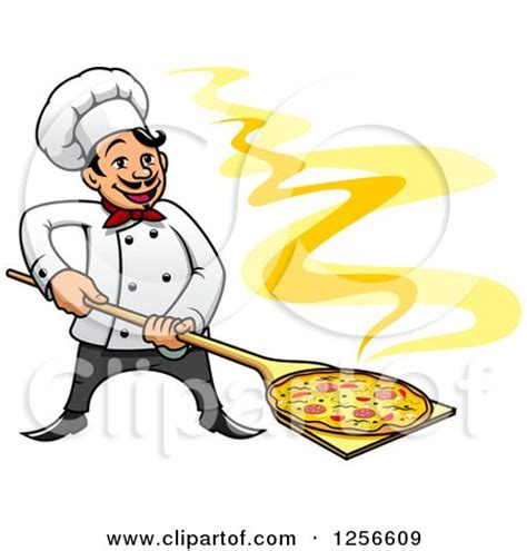 Chef Home Decor Slice Of Pizza Mascot Cartoon Character Holding A Stop