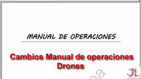 manual de percepciones cjf 2016 ap 233 ndice e nuevo manual de operaciones 2016 drones youtube