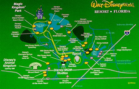 disney world orlando map with hotels map of disney world orlando