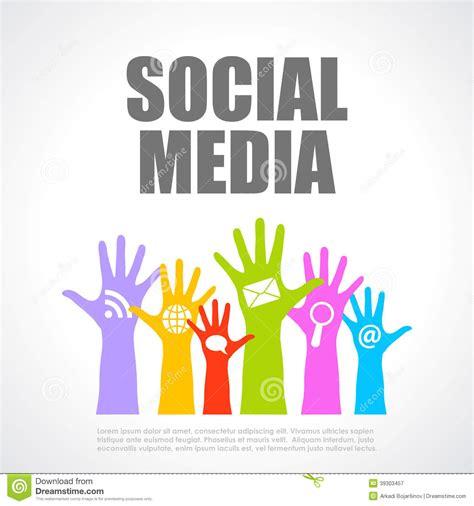 design poster social media social media poster stock vector image 39303457