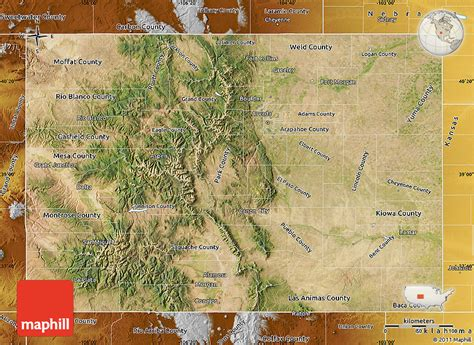 satellite map of colorado satellite map of colorado physical outside