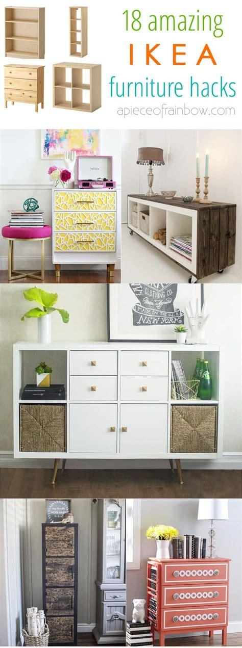 ikea furniture hacks easy custom furniture with 18 amazing ikea hacks a of rainbow