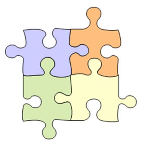 4 puzzle template 4 puzzle pieces template clipart best