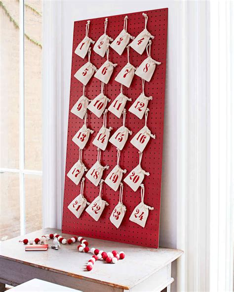 how to make a advent calendar how to make a pegboard advent calendar martha stewart