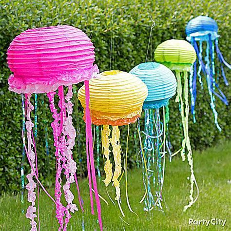 How To Make A Paper Jellyfish - paper lantern jellyfish decorations how to city