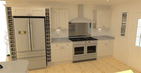 Farm Kitchens Designs Solid Wood Shaker Kitchen In Light Grey Built Around An