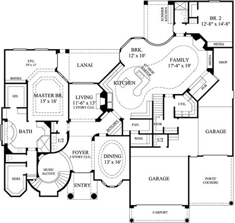 5 bedroom luxury house plans luxury style house plans 6344 square foot home 2 story
