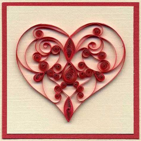 Valentines Day Paper Crafts - inspiring quilling designs paper crafts and unique gift