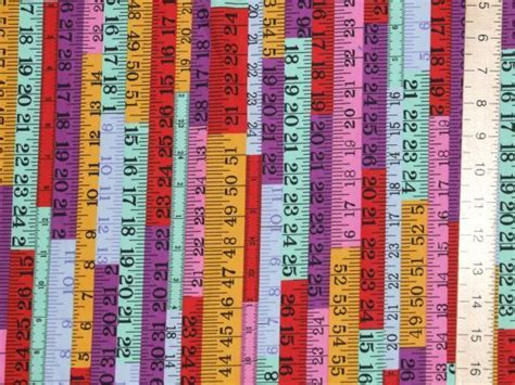 printable fabric tape measure tape measures printed pure cotton purple