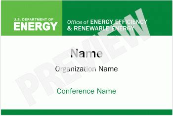 Conference Poster And Name Tag Templates Department Of Energy Conference Name Tag Template