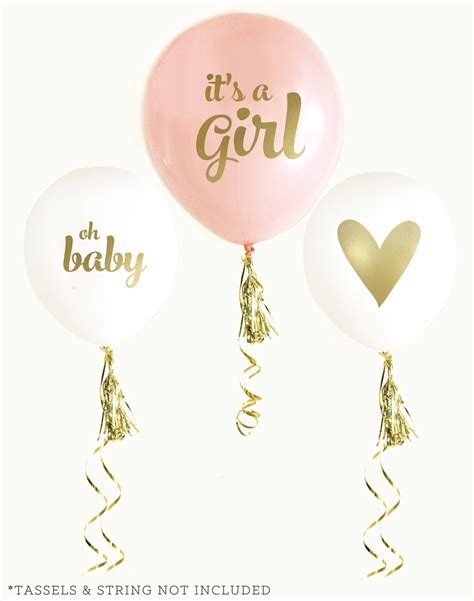 Gold Baby Shower Favors by Gold Baby Shower Balloons Set Of 3 Baby Shower